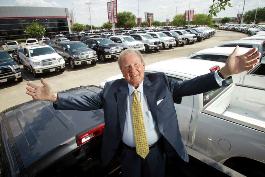 Fred Haas of Fred Haas Toyota/Scion World has reason to smile. The dealership garnered the area's highest number of sales last year. Photo: Brett Coomer, Staff / © 2013 Houston Chronicle