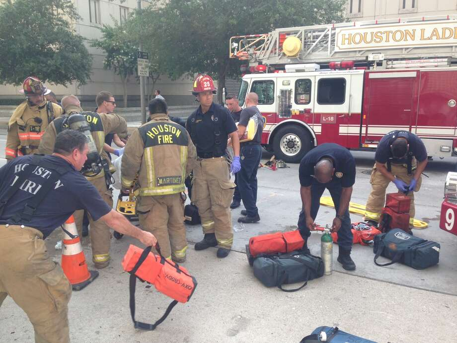 Five transported to area hospitals from foe at Southwestern Bell building