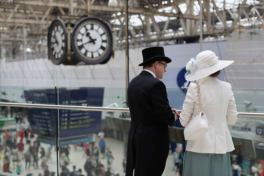 Race-goers travel by train from Waterloo station to Ascot racecourse to attend Royal Ascot on June 20, 2013 in London, England.  Photo: Oli Scarff, Getty Images