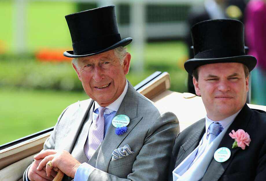 Prince Charles and Lord Dalmeny arrive during the Royal Procession on day two of Royal Ascot at Ascot Racecourse on June 19, 2013 in Ascot, England.  Photo: Stuart C. Wilson, (Credit Too Long, See Caption)
