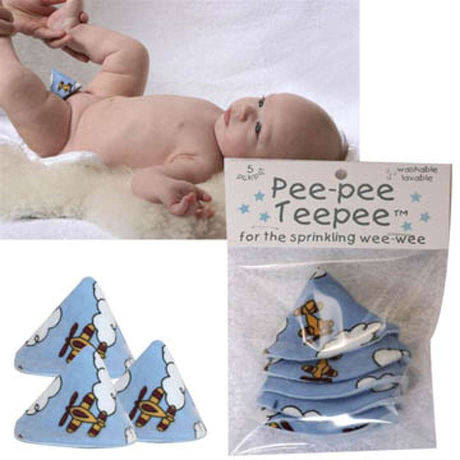 Pee Pee Teepee: Don't let your baby boy whiz in your face when you're changing his diaper!