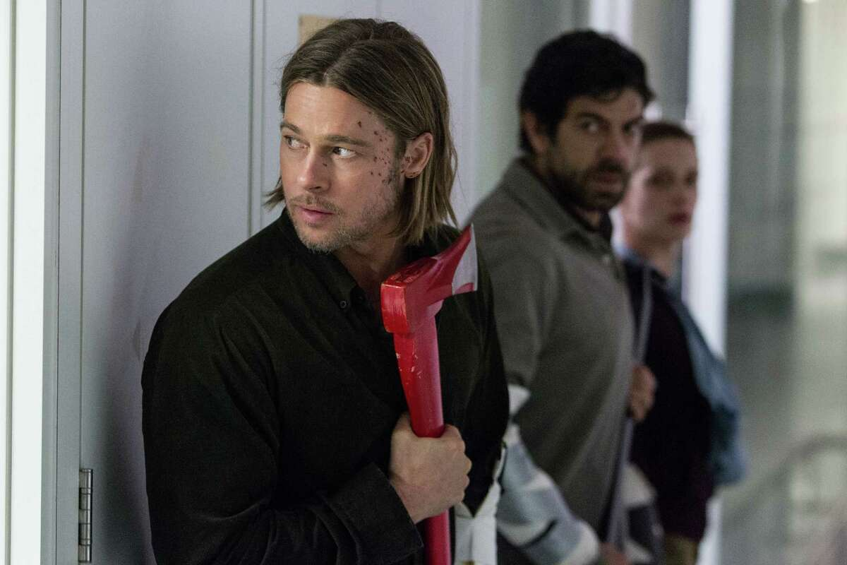 This publicity image released by Paramount Pictures shows Brad Pitt in a scene from