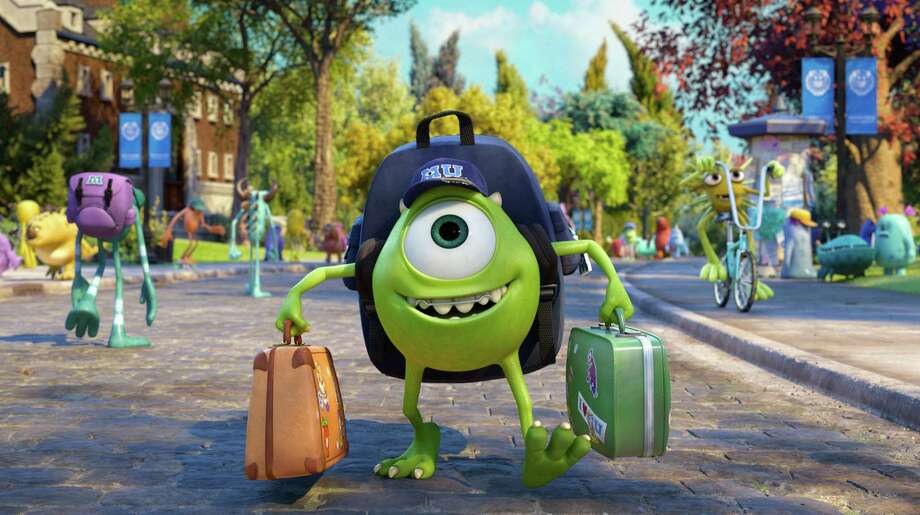 "This film publicity image released by Disney-Pixar shows Mike Wazowski, voiced by Billy Crystal in a scene from ""Monsters University."" (AP Photo/Disney-Pixar) Photo: Pixar"