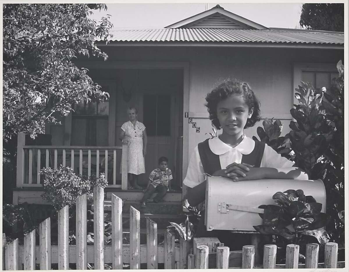 "Ansel Adams' ""Sanchez Family, Wailuku Plantation, Maui,"" 1957, Collection Center for Creative Photography, University of Arizona"