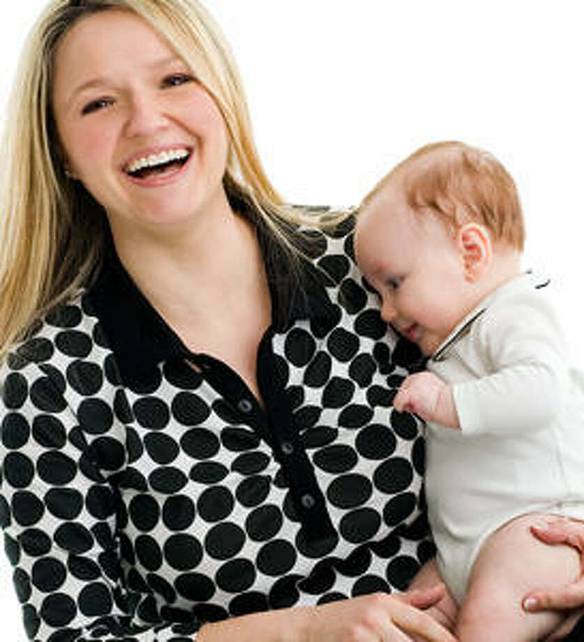 Tutortogs: Babies are known to be stimulated by high-contrast patterns and so this company created these bold black-and-white shirts for moms.