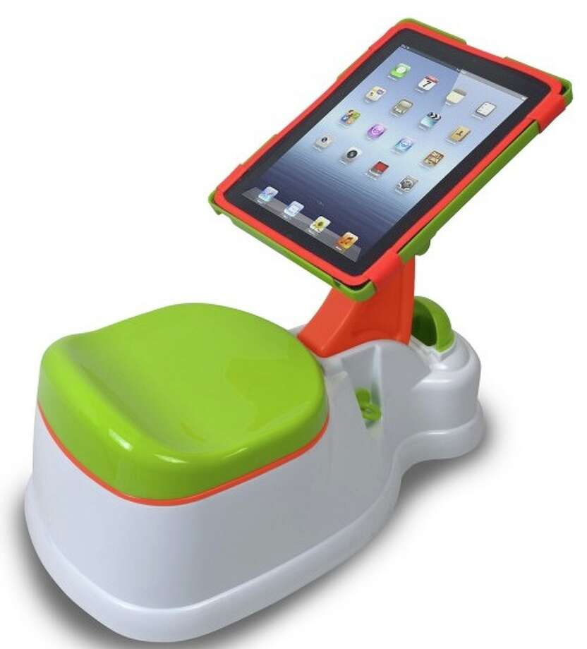 iPotty: With a special iPad holder, this toilet-training device makes sitting on the pot fun for young tykes. But why not just give the kid a picture book?