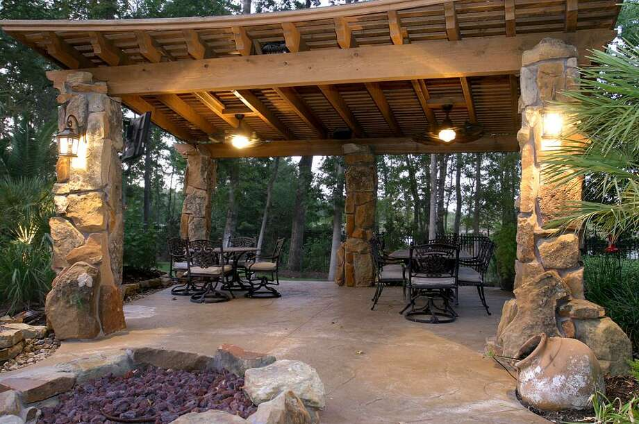 A view of the home's gazebo. Photo: HAR
