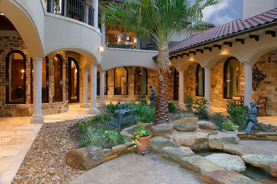 A view of the home's courtyard. Photo: HAR
