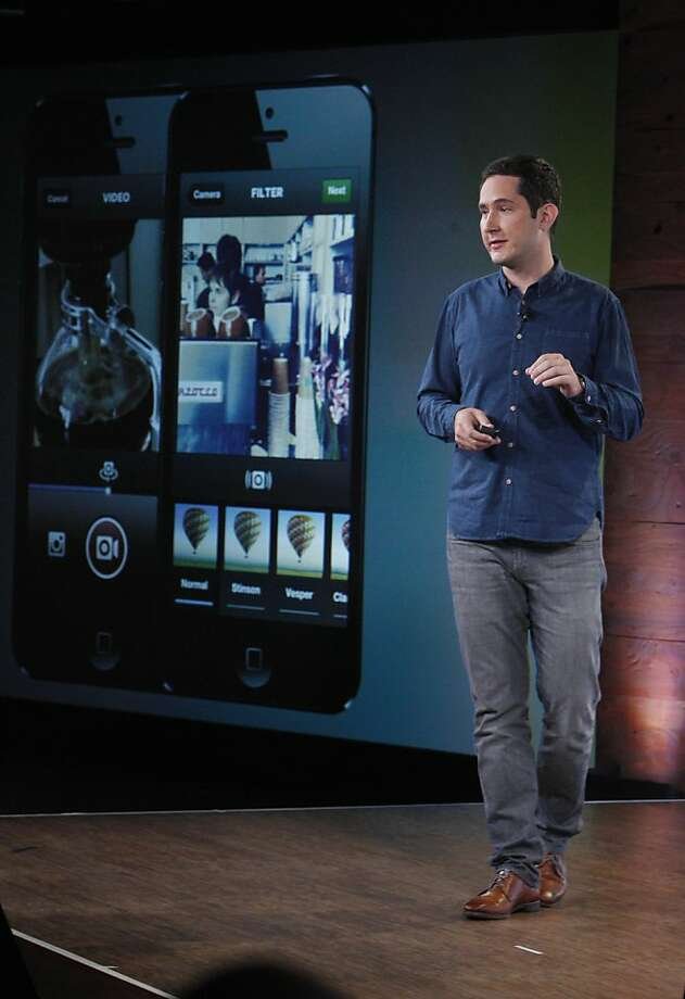 Kevin Systrom, Instagram CEO and co-founder, outlines the features of the new app that can record 15-second videos at Facebook headquarters in Menlo Park. Photo: Lea Suzuki, The Chronicle