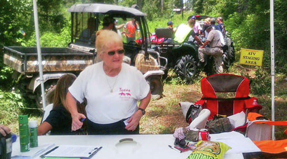 Volunteers from Texas EquuSearch and more than two dozen first-responders trained all day in the heat between the communities of Hardin and Moss Hill in Liberty County. Photo: Montgomery County Police Reporter