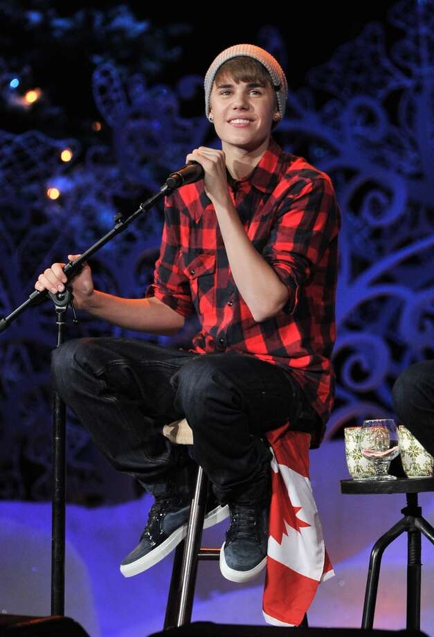 Justin Bieber is patriotic. Photo: George Pimentel, WireImage