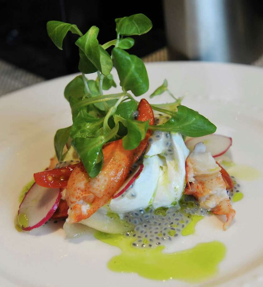 Tala American Bistro,626 New Loudon Rd.,Latham, NY,518-486-TALA. Lobster and burrata, tomato, pickled pear,  radish, and basil oil is under starters on the menu at Tala American  Bistro on Thursday, June 13, 2013 in Latham, N.Y. (Lori Van Buren /  Times Union)Visit Web site.Read our review. Photo: Lori Van Buren / 00022785A