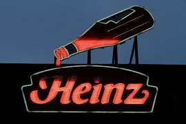 An animated neon Heinz Ketchup bottle that was once on the company's North Side factory in Pittsburgh, now sits atop the Senator John Heinz History Center in Pittsburgh.