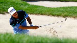 CROMWELL, CT- JUNE 20: Freddie Jacobson of Sweden hits his ball out of the sand trap on the 7th hole during the first round of the 2013 Travelers Championship at TPC River Highlands on June 20, 2012 in Cromwell, Connecticut.  (Photo by Jared Wickerham/Getty Images)