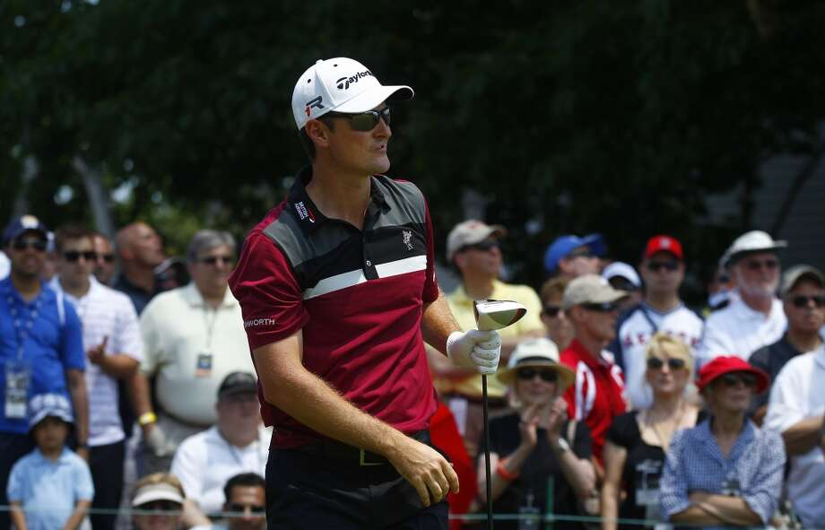 CROMWELL, CT - JUNE 20:  Justin Rose of England watches his drive on the first tee box during the first round of the Travelers Championship held at TPC River Highlands on June 20, 2013 in Cromwell, Connecticut.  (Photo by Michael Cohen/Getty Images)