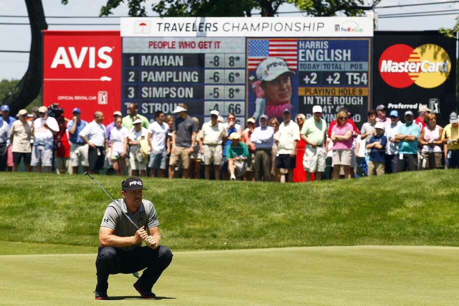 CROMWELL, CT - JUNE 20:  Hunter Mahan waits to play on the ninth greenduring the first round of the Travelers Championship held at TPC River Highlands on June 20, 2013 in Cromwell, Connecticut.  (Photo by Michael Cohen/Getty Images)