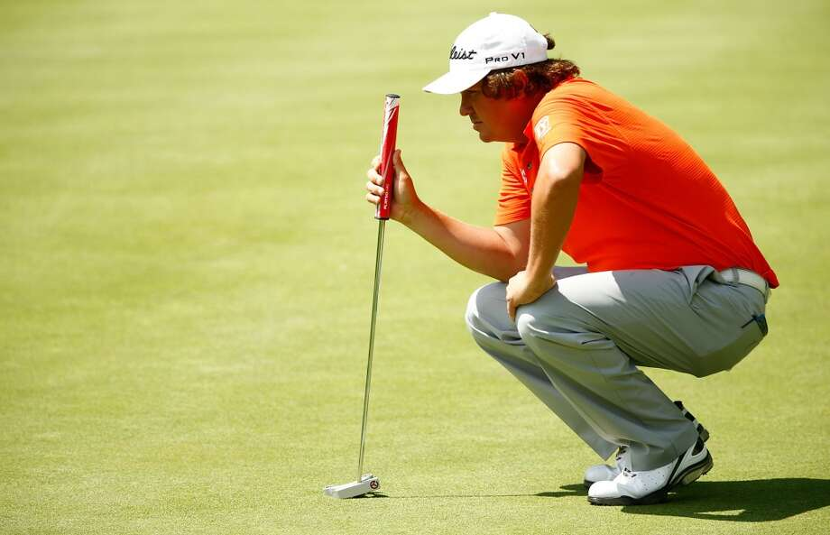 CROMWELL, CT- JUNE 20: Jason Dufner lines up his putt during the first round of the 2013 Travelers Championship at TPC River Highlands on June 20, 2012 in Cromwell, Connecticut.  (Photo by Jared Wickerham/Getty Images)