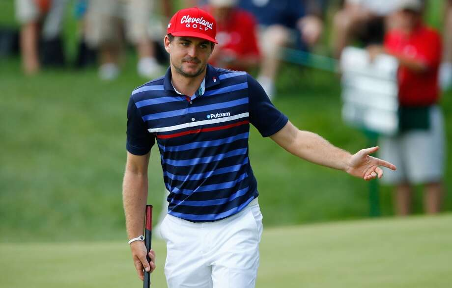 CROMWELL, CT- JUNE 20: Keegan Bradley reacts after missing a putt during the first round of the 2013 Travelers Championship at TPC River Highlands on June 20, 2012 in Cromwell, Connecticut.  (Photo by Jared Wickerham/Getty Images)