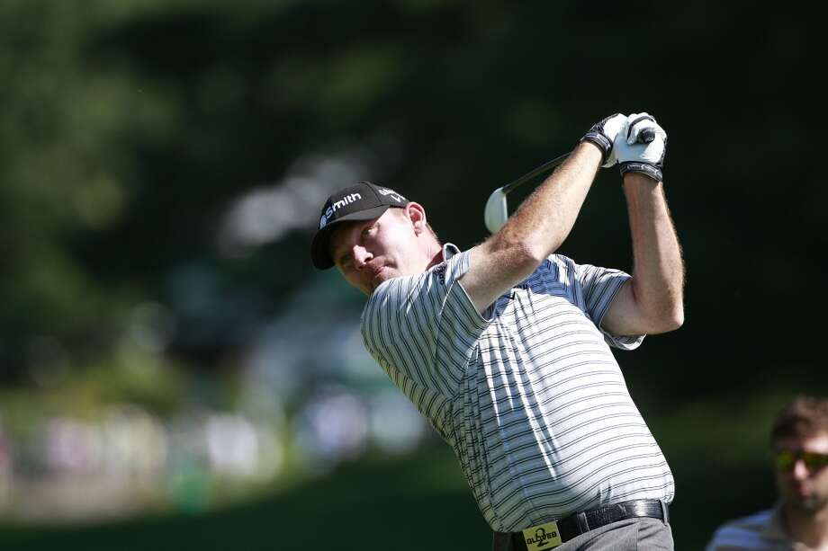 CROMWELL, CT - JUNE 20: Tommy Gainey hits a drive during the first round of the Travelers Championship held at TPC River Highlands on June 20, 2013 in Cromwell, Connecticut.  (Photo by Michael Cohen/Getty Images)