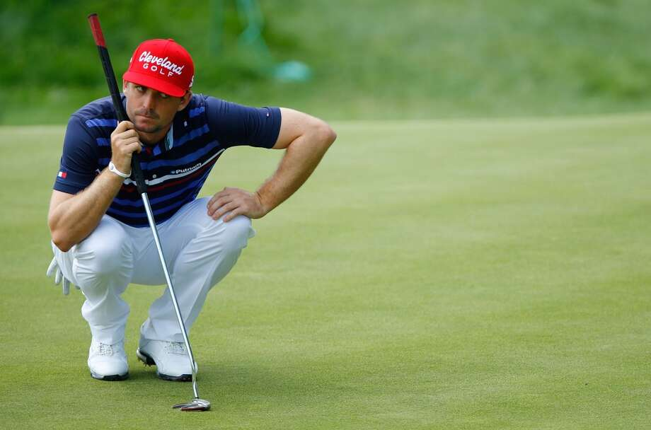 CROMWELL, CT- JUNE 20: Keegan Bradley reacts after lines up a putt during the first round of the 2013 Travelers Championship at TPC River Highlands on June 20, 2012 in Cromwell, Connecticut.  (Photo by Jared Wickerham/Getty Images)