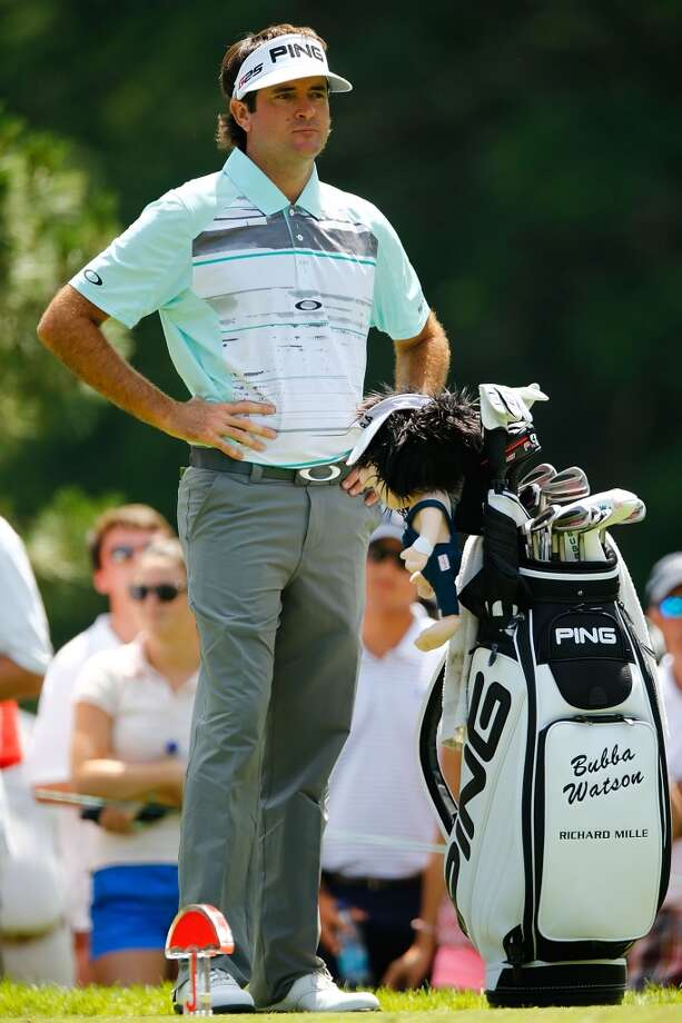 CROMWELL, CT- JUNE 20: Bubba Watson stands by his Ping bag at the tees during the first round of the 2013 Travelers Championship at TPC River Highlands on June 20, 2012 in Cromwell, Connecticut.  (Photo by Jared Wickerham/Getty Images)