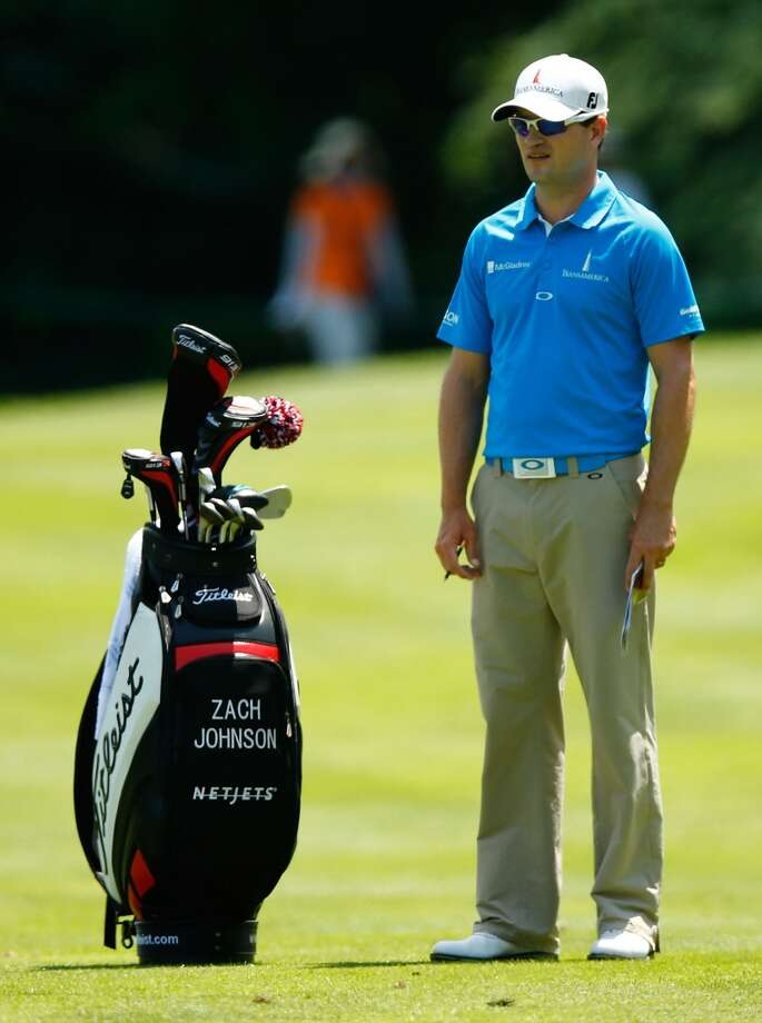 CROMWELL, CT- JUNE 20: Zach Johnson stands near his Titleist bag during the first round of the 2013 Travelers Championship at TPC River Highlands on June 20, 2012 in Cromwell, Connecticut.  (Photo by Jared Wickerham/Getty Images)