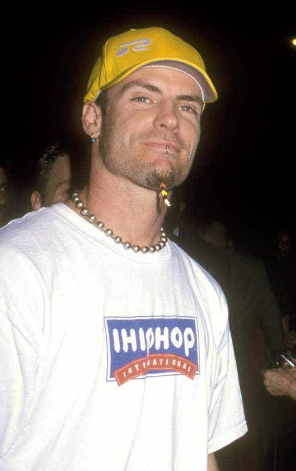 Vanilla Ice wears disturbing things on his face.