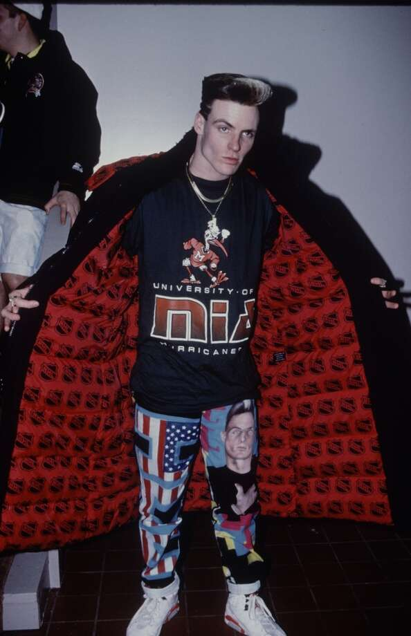 Vanilla Ice loves wacky patterns in strange places.