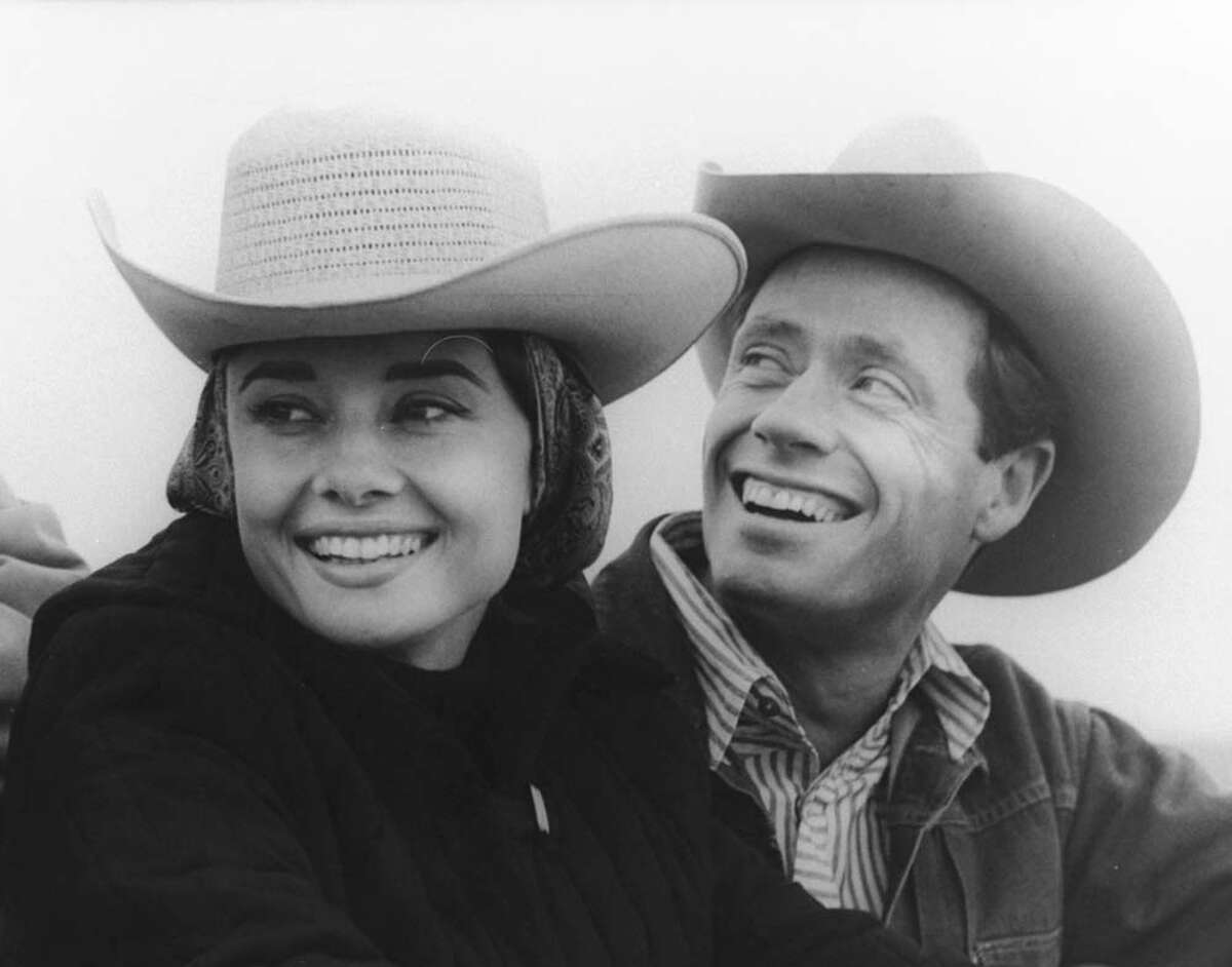 Mel Ferrer: actor, producer, directorClass of 1935 Seen here: Mel Ferrer and wife Audrey Hepburn wearing cowboy hats