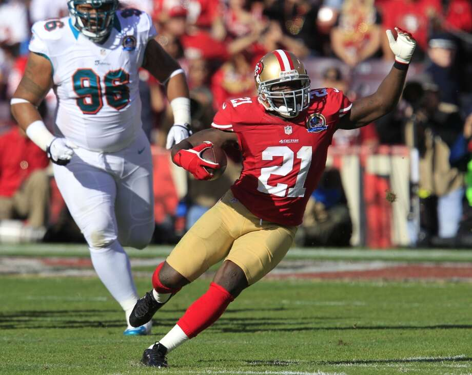 Frank Gore – Entering his 30th year of life and ninth season in the NFL, Gore remains the foundation of the team's running game. Gore is a three-tool back with his ability to run, catch and block, and he also keeps himself in pristine condition. He hid an injury throughout the off-season, and Gore wouldn't say if he'd be ready to start training camp. Nevertheless, if Gore doesn't have another Gore-like season, it would be a surprise. Without him, the 49ers would have to go to a committee of Kendall Hunter, LaMichael James and Anthony Dixon. That's how many players it would take to replace him.