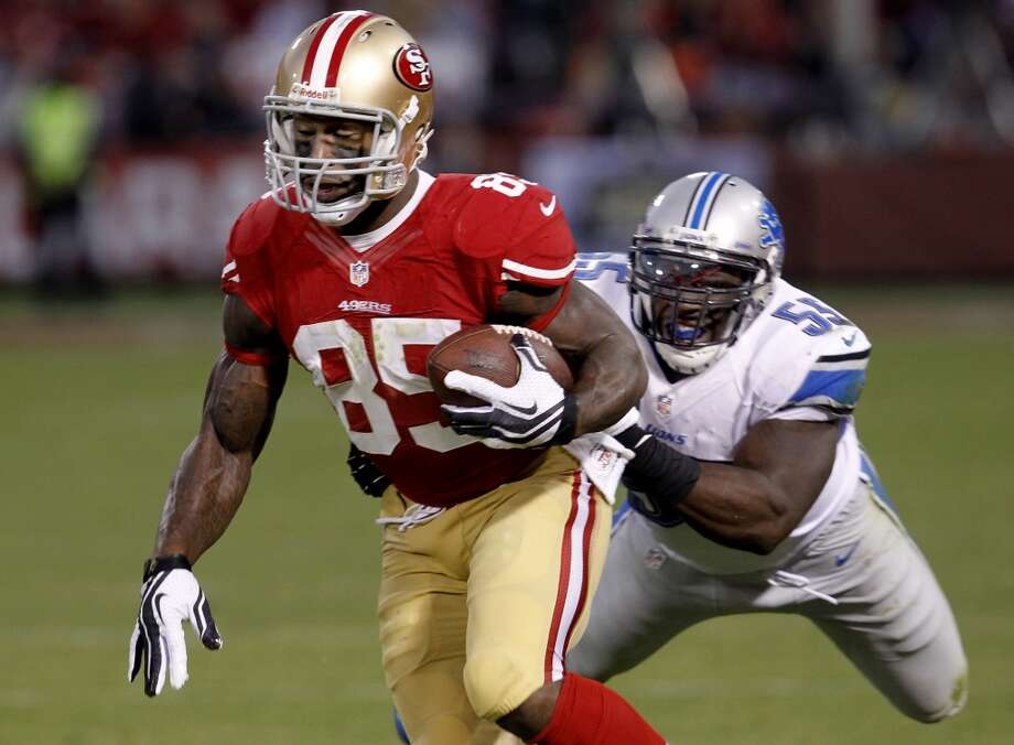 Vernon Davis – Yes, Davis' production shrank when Colin Kaepernick took over at quarterback. But Davis came up big during the playoffs, and when he's on the field defenses have to account for his down-field abilities. That means a linebacker over him and a safety over the top. Without him, defenses could be far more effective against the 49ers.