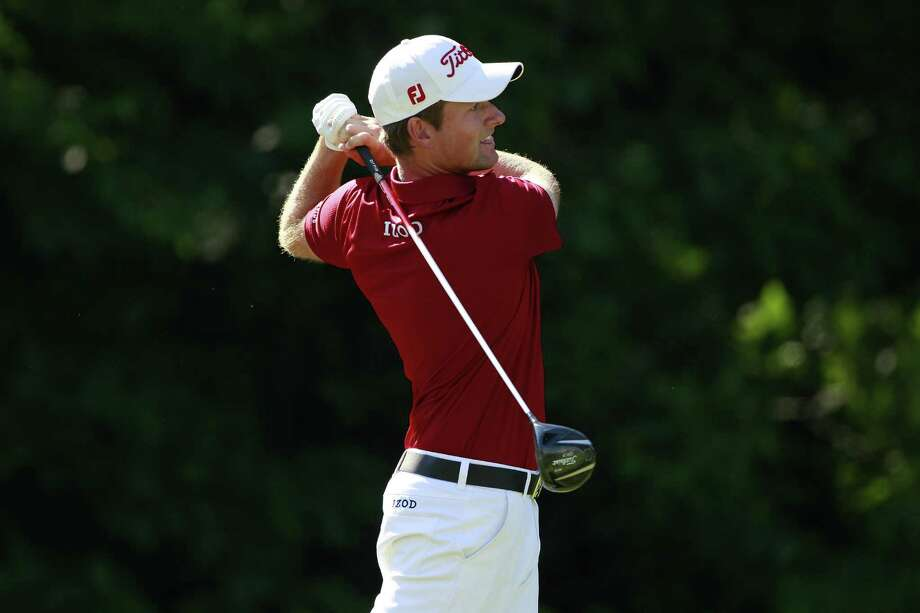 CROMWELL, CT - JUNE 20:  Webb Simpson hits a drive during the first round of the Travelers Championship held at TPC River Highlands on June 20, 2013 in Cromwell, Connecticut. Photo: Michael Cohen, Getty Images / 2013 Getty Images