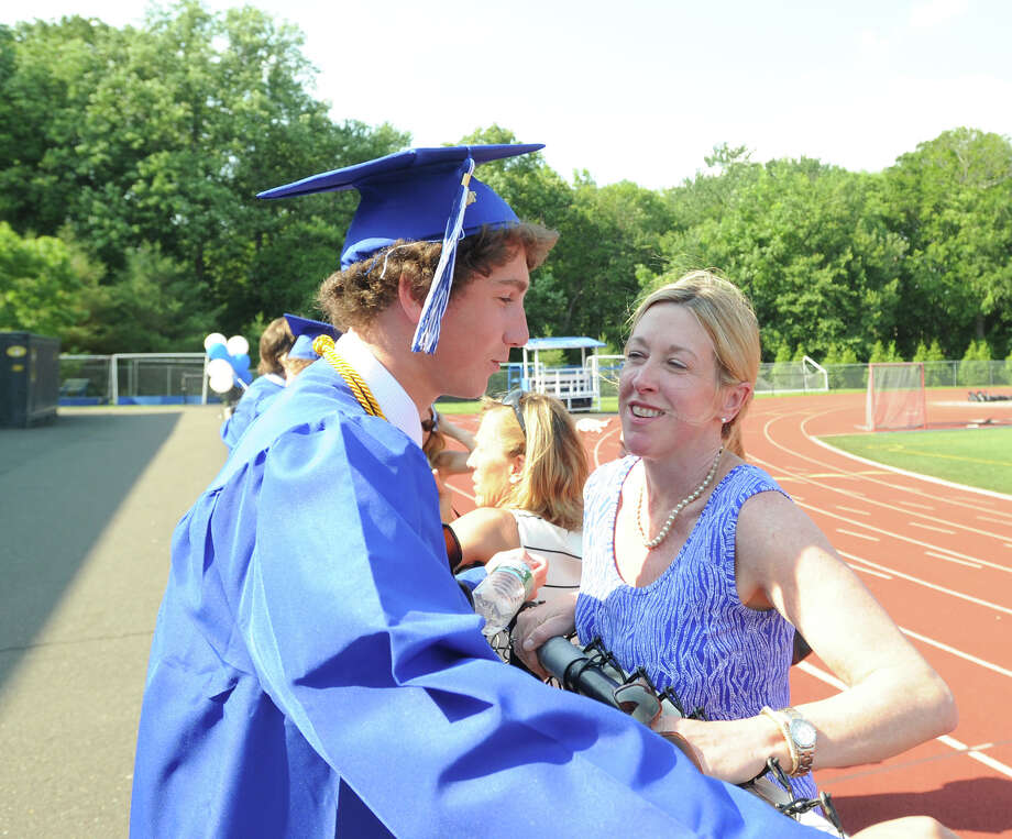 Darien High School graduation ceremony on the athletic field at the school, Thursday evening, June 20, 2013. Photo: Bob Luckey / Greenwich Time