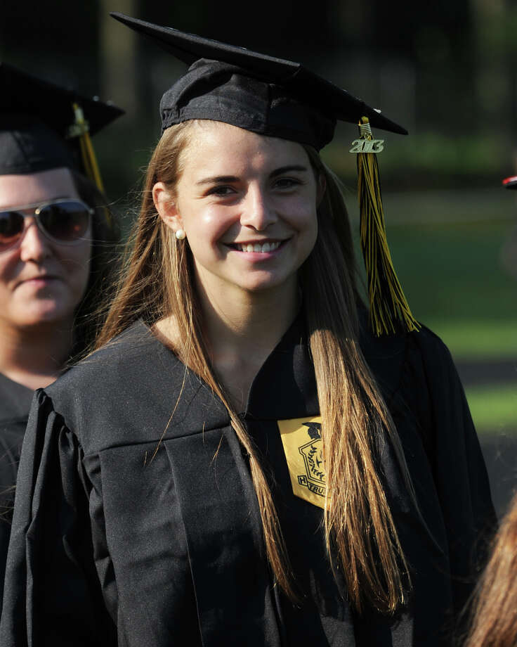 Commencement Exercises for the Trumbull High School Class of 2013, in Trumbull, Conn., June 20th, 2013. Photo: Ned Gerard / Connecticut Post