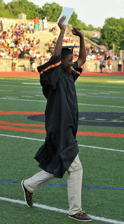 Scenes from the Stamford High School graduation ceremony on Thursday, June 20, 2013. Photo: Jason Rearick / Stamford Advocate