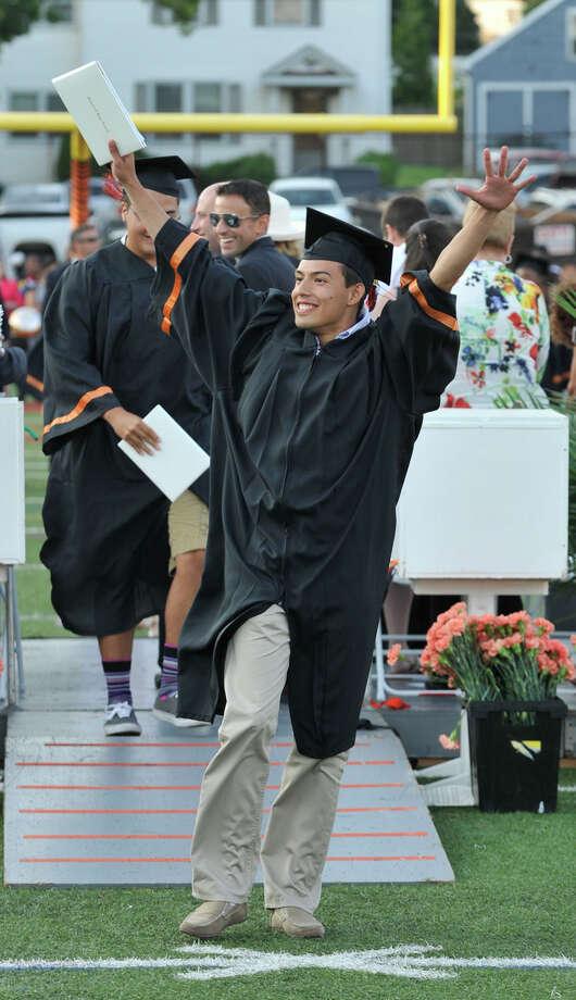 Scenes from the Stamford High School graduation ceremony on Thursday, June 20, 2013. Photo: Jason Rearick / Stamford Advocate