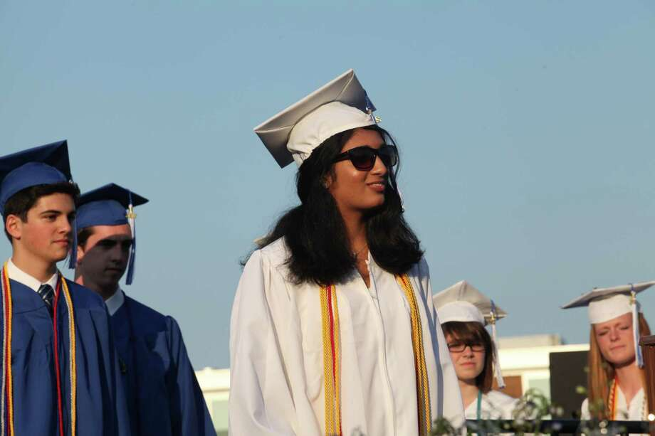 Fairfield Ludlowe High School holds commencement exercises at the Connecticut school on Thursday, June 20, 2013. Photo: BK Angeletti, B.K. Angeletti / Connecticut Post freelance B.K. Angeletti