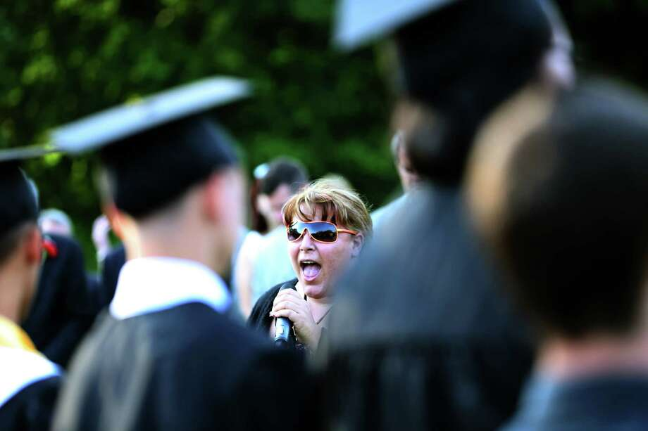 Mike Ross Connecticut Post freelance -Miss Tina Williams sings the Star Spangled Banner during Thursday afternoon Platt Tech commencement exercises. Photo: Mike Ross / Mike Ross Connecticut Post freelance -www.mikerossphoto.com