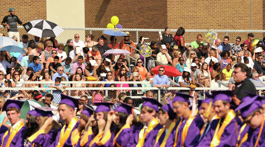 Scenes from the Westhill High School graduation ceremony in Stamford on Thursday, June 20, 2013. Photo: Jason Rearick / Stamford Advocate
