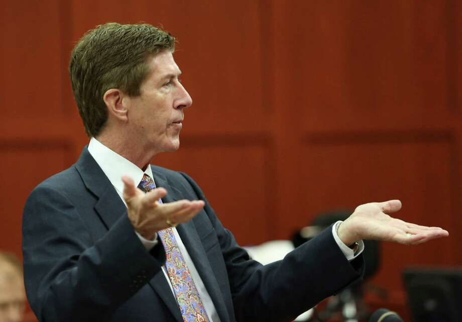 Defense attorney Mark O'Mara questions potential jurors during George Zimmerman's trial in Seminole circuit court in Sanford, Fla., Thursday, June 20, 2013. Zimmerman has been charged with second-degree murder for the 2012 shooting death of Trayvon Martin.(AP Photo/Orlando Sentinel, Gary Green, Pool) Photo: Gary Green