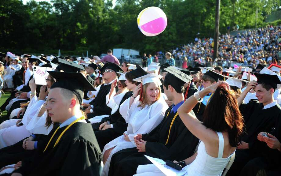 Shelton High School holds its commencement ceremony Thursday, June 20, 2013 at the school. Photo: Autumn Driscoll / Connecticut Post