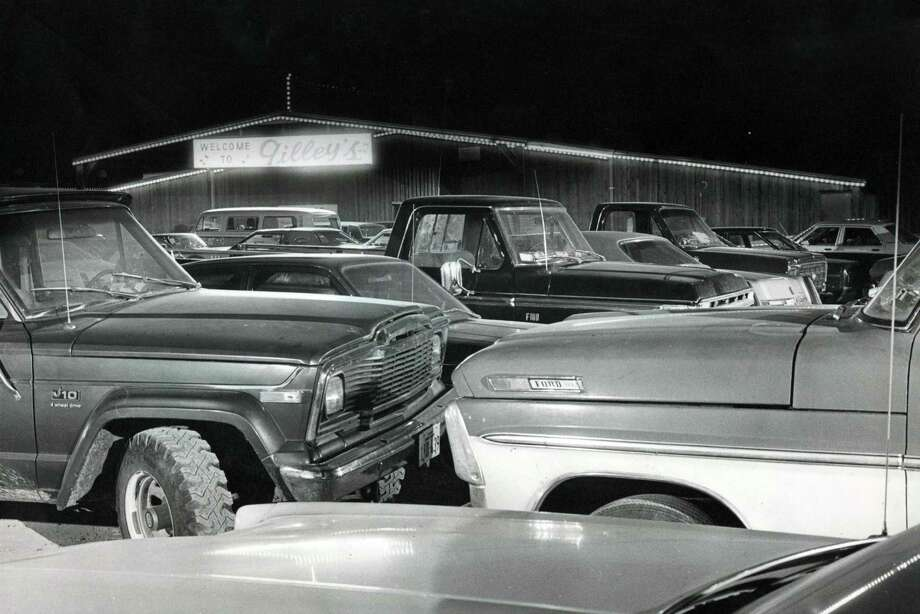 Parking lot at Gilley's Club, 1980. Photo: Steve Ueckert, Houston Chronicle / Houston Chronicle