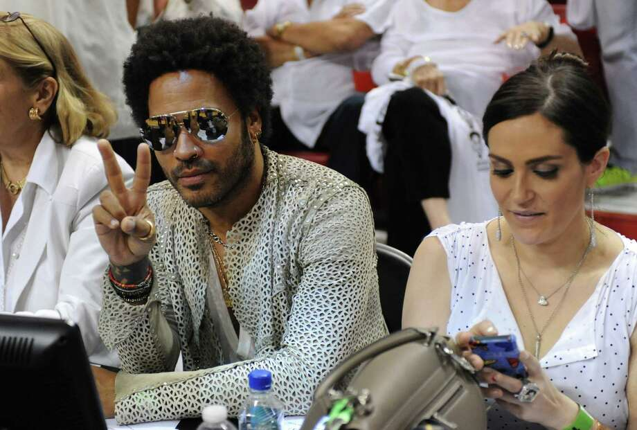 Lenny Kravitz at Game 7 of the NBA Finals with the Miami Heat taking on the San Antonio Spurs at the AmericanAirlines Arena in Miami, Florida, on Thursday, June 20, 2013. Photo: Jim Rassol, McClatchy-Tribune News Service / Sun Sentinel