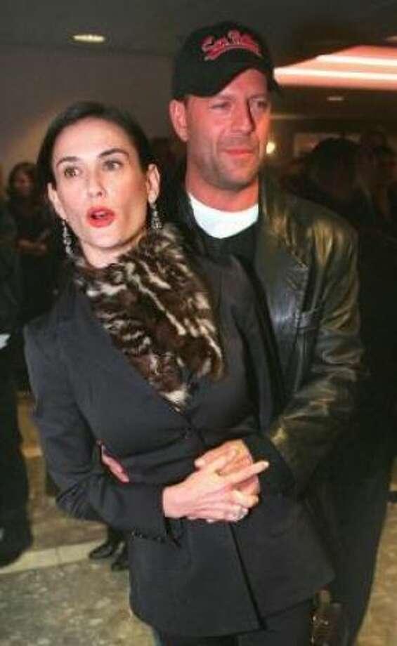 Demi Moore and Bruce Willis:Kids' names: Rumer Glenn, Scout LaRue and Tallulah Belle