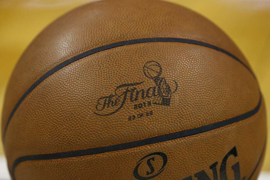 The official NBA Finals game ball is seen during the first half of Game 7 of the 2013 NBA Finals Thursday, June 20, 2013 at American Airlines Arena in Miami. (Edward A. Ornelas/San Antonio Express-News) Photo: San Antonio Express-News