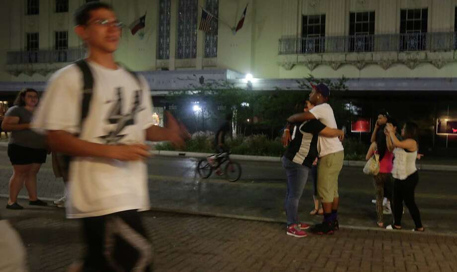 San Antonio take to the streets downtown after the Spurs lost to the  Miami Heat in game 7 for the NBA Championship on Thursday, June, 20, 2013. Photo: Bob Owen, San Antonio Express-News / ©2013 San Antonio Express-News
