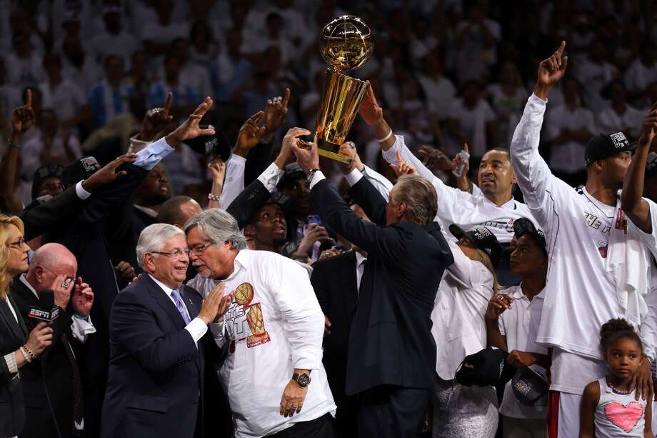 The Heat celebrate their 2013 NBA Finals victory. Photo: Mike Ehrmann, Getty Images