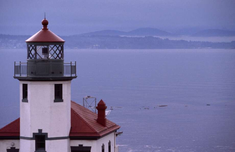 Alki Point Lighthouse in West Seattle … not a lot of foot traffic and unlikely to be moved soon … plus it's a perfectly gothic location. Wind-blown. Cold. And yet it has an amazing view of the Olympics and Puget Sound.