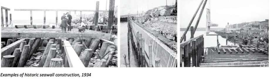 Somewhere along the seawall? It's been around since the 1930s and might have seemed like a location no one would dig up. Nevertheless, Seattle will be replacing the seawall between September 2013 and spring 2016. Stay tuned.