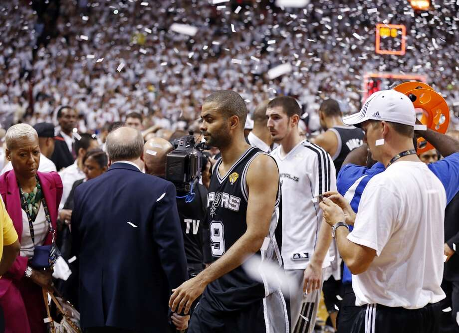 San Antonio Spurs' Tony Parker walks off the court after Game 7 of the 2013 NBA Finals against the Miami Heat Thursday, June 20, 2013 at American Airlines Arena in Miami. The Spurs lost the NBA Finals 88-95.  (Edward A. Ornelas/San Antonio Express-News) Photo: San Antonio Express-News